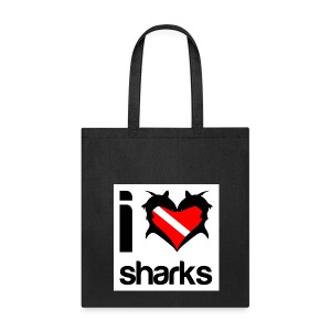 I Love Sharks Tote - Tote Bag