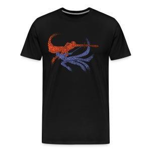 Distorted Combo Men's (Black) - Men's Premium T-Shirt