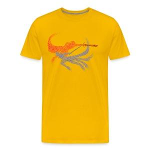 Distorted Combo Men's (Yellow) - Men's Premium T-Shirt