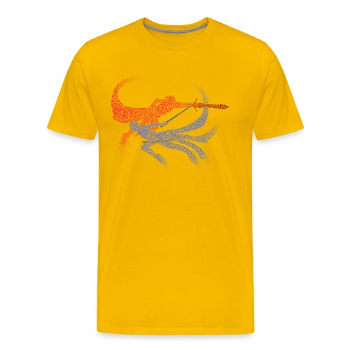 Distorted Combo Men's (Yellow) - Men's Premium T-Shirt