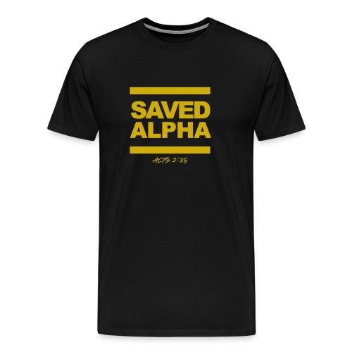 SAVED ALPHA - Men's Premium T-Shirt