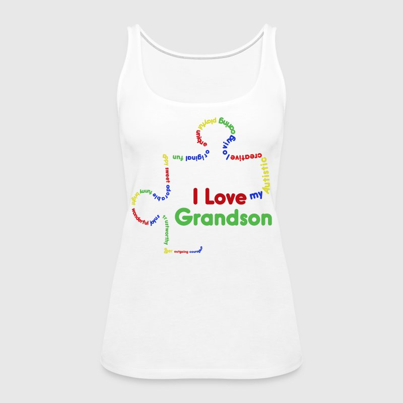 I Love My Autistic Grandson Tank Top