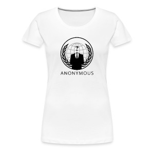 Anonymous 1 - Black - Women's Premium T-Shirt