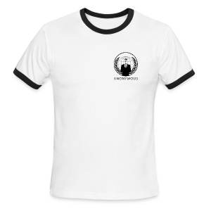 Anonymous 1 - Black - Men's Ringer T-Shirt