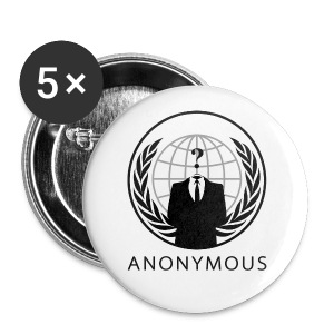 Anonymous 1 - Black - Small Buttons