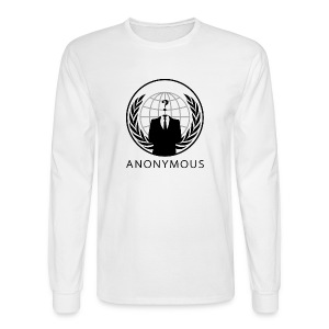 Anonymous 1 - Black - Men's Long Sleeve T-Shirt