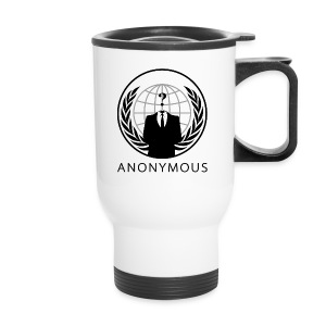Anonymous 1 - Black - Travel Mug