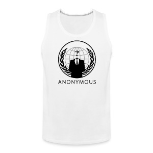 Anonymous 1 - Black - Men's Premium Tank