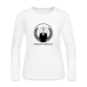 Anonymous 1 - Black - Women's Long Sleeve Jersey T-Shirt