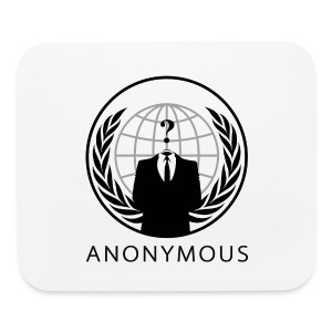 Anonymous 1 - Black - Mouse pad Horizontal