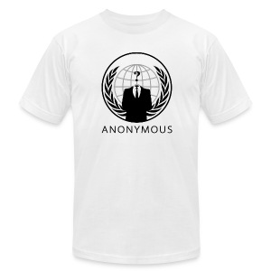 Anonymous 1 - Black - Men's T-Shirt by American Apparel