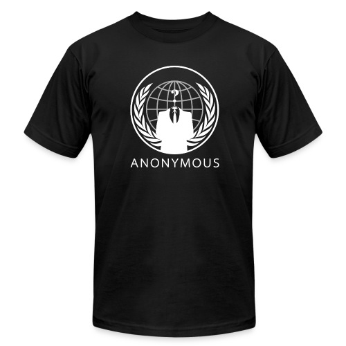Anonymous 1 - White - Men's Fine Jersey T-Shirt