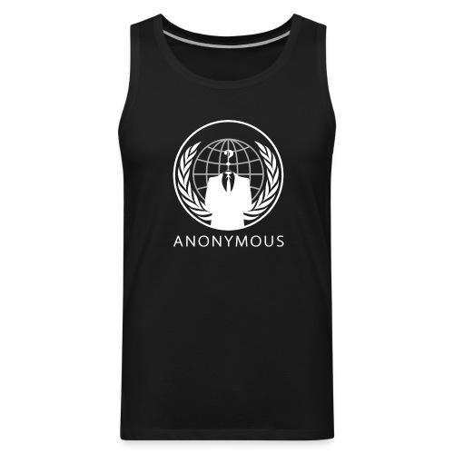 Anonymous 1 - White - Men's Premium Tank