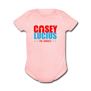 Casey for Congress 2016 Baby   - Pink - Short Sleeve Baby Bodysuit