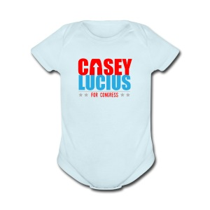 Casey for Congress 2016 Baby   - Blue - Short Sleeve Baby Bodysuit