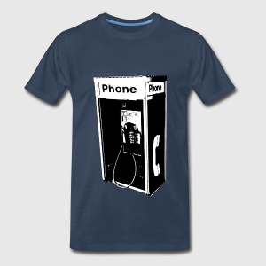 Men's Pay Phone T-Shirt - Men's Premium T-Shirt
