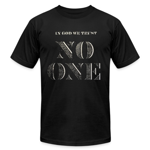 Trust No One tee - Men's  Jersey T-Shirt