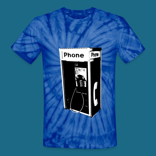 Unisex Tie-Dye Pay Phone T-Shirt - Unisex Tie Dye T-Shirt