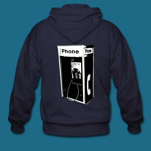 Zip-Up Pay Phone Hoodie - Men's Zip Hoodie