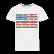 Baby & Toddler Shirts ~ Toddler Premium T-Shirt ~ USA Michigan License Plate Flag