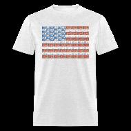 T-Shirts ~ Men's T-Shirt ~ USA Michigan License Plate Flag