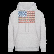 Hoodies ~ Men's Hoodie ~ USA Michigan License Plate Flag