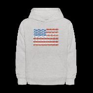 Sweatshirts ~ Kids' Hoodie ~ USA Michigan License Plate Flag