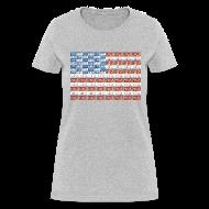 Women's T-Shirts ~ Women's T-Shirt ~ USA Michigan License Plate Flag