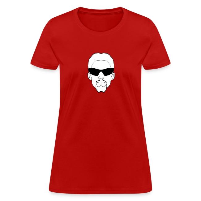 Gildan Woman's T-Shirt Logo Front & Back