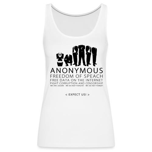 Anonymous 2 - Black - Women's Premium Tank Top