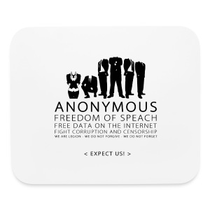 Anonymous 2 - Black - Mouse pad Horizontal