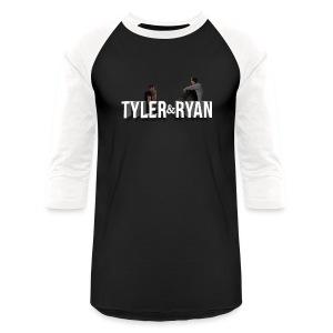 Tyler & Ryan Sitting Logo Tee - Baseball T-Shirt