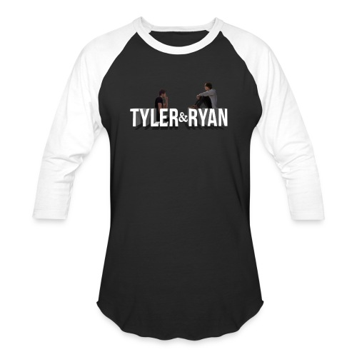Tyler & Ryan Sitting Logo Tee - Baseball T-Shirt