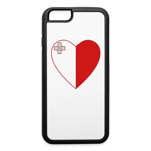 Malta flag heart - iPhone 6/6s Rubber Case