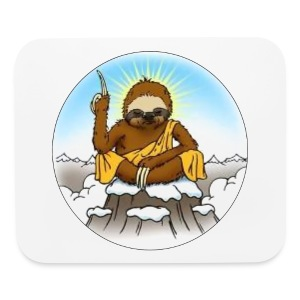 Wise Sloth Mouse Pad - Mouse pad Horizontal
