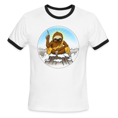 Men's Wise Sloth Ringer T-Shirt - Men's Ringer T-Shirt