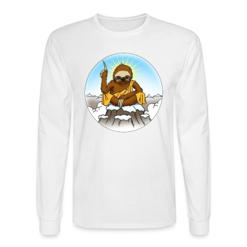 Men's Long Sleeve Wise Sloth T-Shirt - Men's Long Sleeve T-Shirt