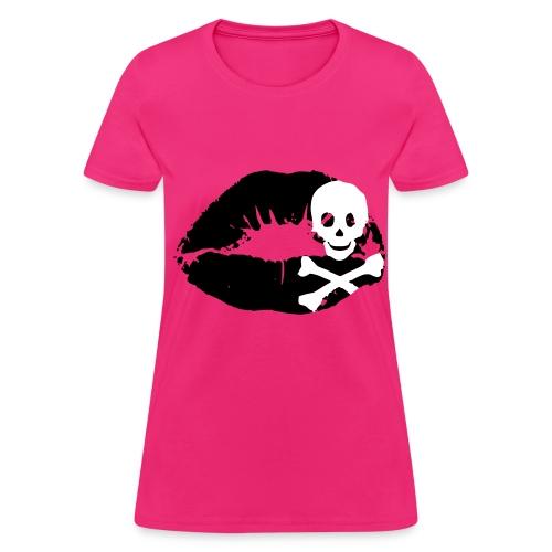Kiss Skull T-Shirt - Women's T-Shirt