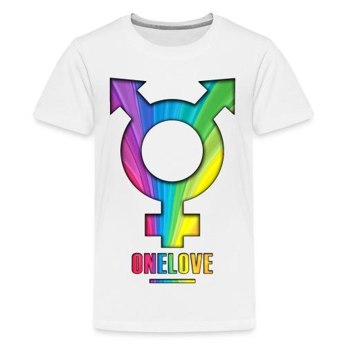 ONELOVE RAINBOW BOY - front print - xs/l kids - multi colors - Kids' Premium T-Shirt