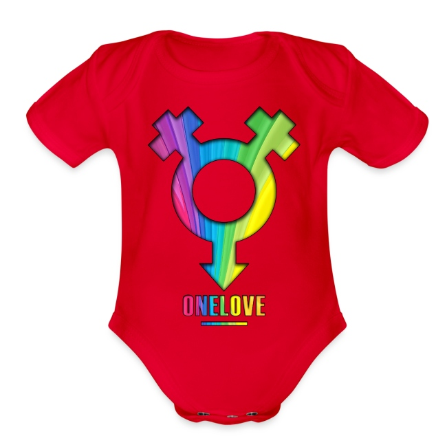ONELOVE RAINBOW GIRL - front print - newborn/12 months - multi colors