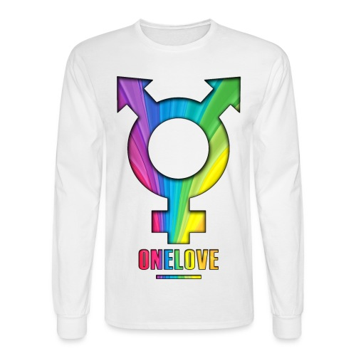 ONELOVE RAINBOW MALE - front print - s/xxl - Men's Long Sleeve T-Shirt