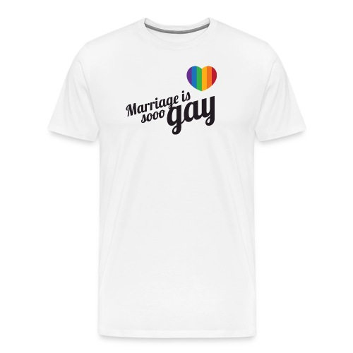 Marriage is so gay - Men - Men's Premium T-Shirt