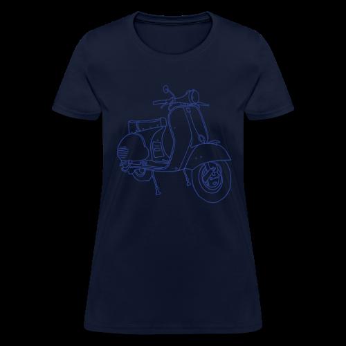 Motor scooter (blue glitz) - Women's T-Shirt