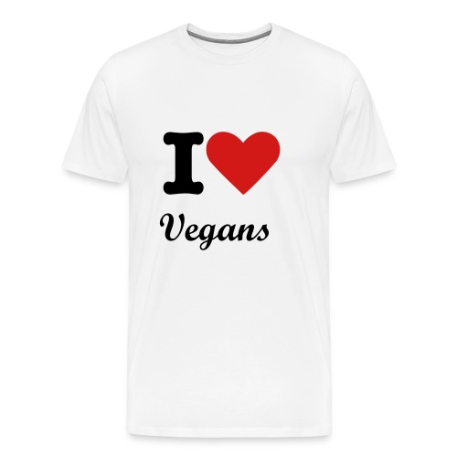 I love vegans - Men's Premium T-Shirt