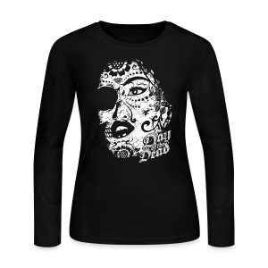 Sugar Lady - Day of the Dead - Women's Long Sleeve Jersey T-Shirt
