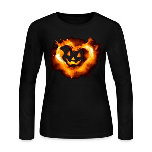 Halloween Heart - Women's Long Sleeve Jersey T-Shirt