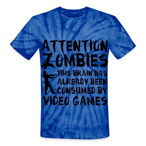 Videogamers brain has been taken - Unisex Tie Dye T-Shirt