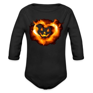 Halloween Heart - Long Sleeve Baby Bodysuit