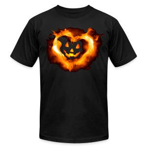 Halloween Heart - Men's T-Shirt by American Apparel