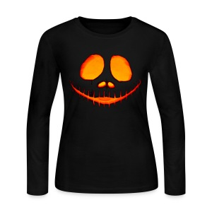 Halloween Pumpkin - Women's Long Sleeve Jersey T-Shirt